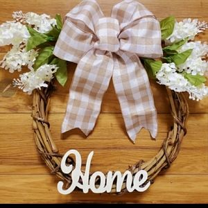 Rustic country home wreath